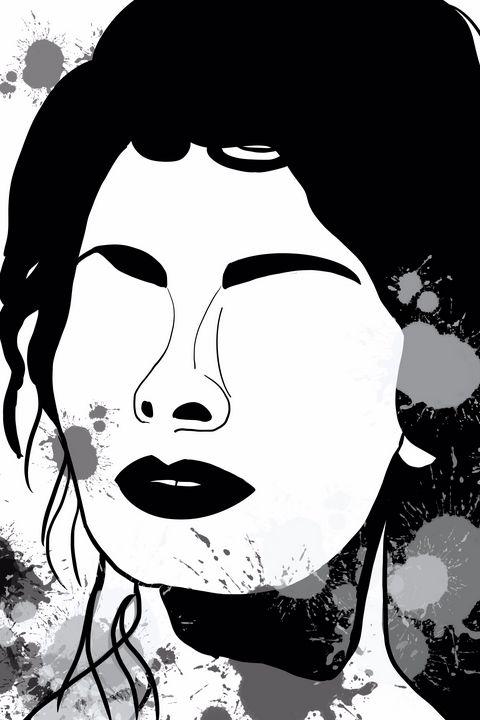 Woman Face Art - AnuKumari Verma
