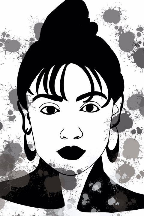 Black and white woman art - AnuKumari Verma