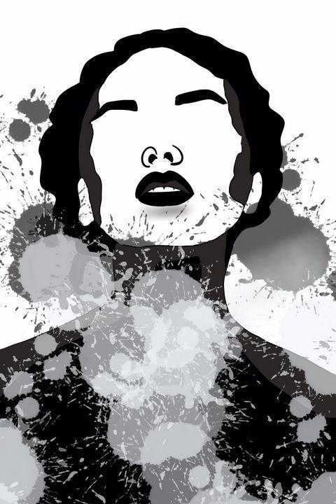 Black and white female art - AnuKumari Verma