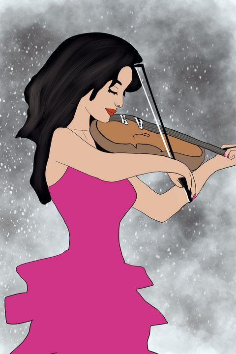 Woman Playing Violin - AnuKumari Verma