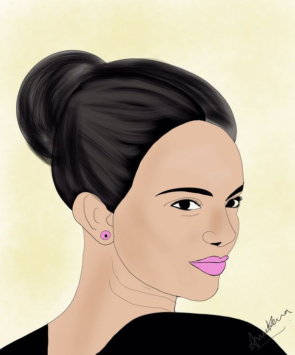 Beautiful woman art - AnuKumari Verma