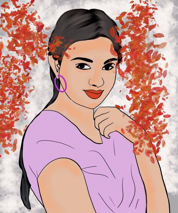 Beautiful Woman print - AnuKumari Verma