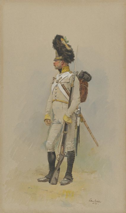 Édouard Detaille~A Standing Grenadie - Treasury Classic