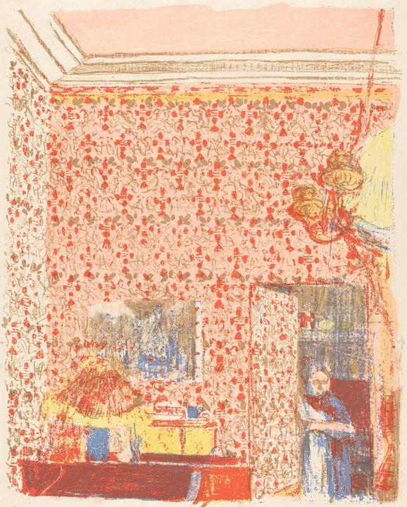 Édouard Vuillard~Interior with Pink - Treasury Classic