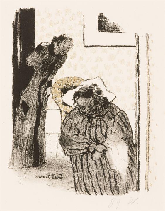 Édouard Vuillard~La Sieste ou la Con - Treasury Classic