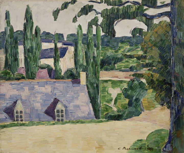 Émile Bernard~Landscape at Pont-Aven - Treasury Classic