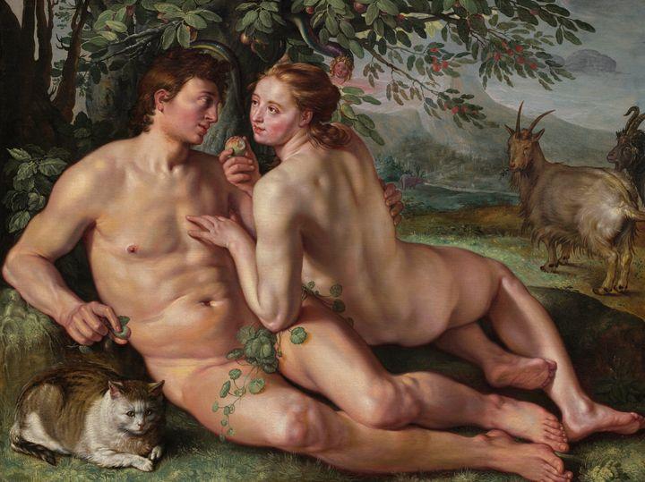 Hendrik Goltzius~The Fall of Man - Treasury Classic