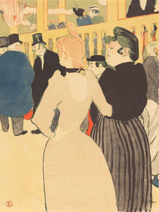 Henri de Toulouse-Lautrec~At the Mou - Treasury Classic