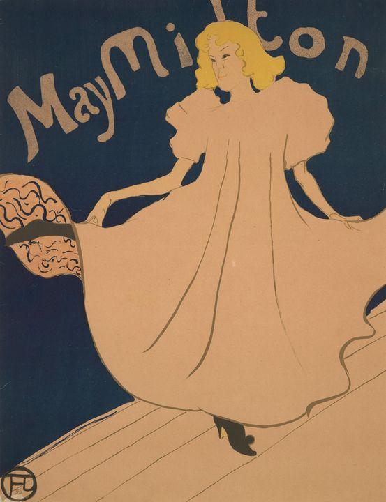 Henri de Toulouse-Lautrec~May Milton - Treasury Classic