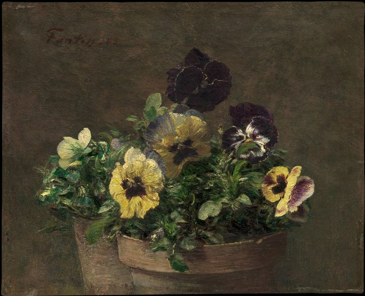 Henri Fantin-Latour~Potted Pansies - Treasury Classic