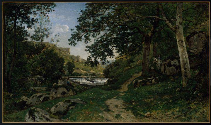 Henri Harpignies~The Rocky Path in t - Treasury Classic