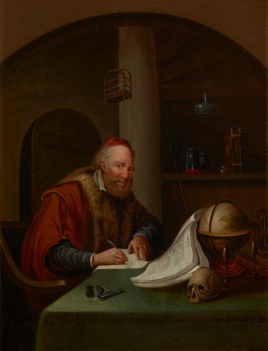 Gerrit Dou~Scholar Interrupted at Hi - Treasury Classic