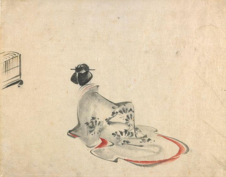Hiroshige~A woman bowing - Treasury Classic