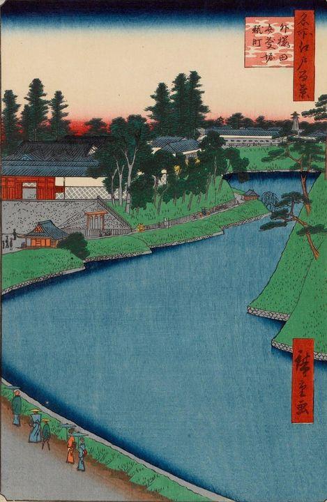 Hiroshige~Benkei Moat From Soto-Saku - Treasury Classic
