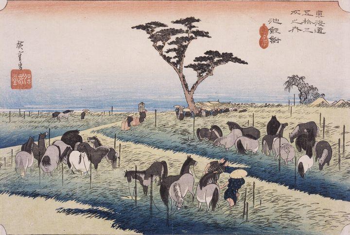 Hiroshige~Chiryū, Summer Horse Fair - Treasury Classic
