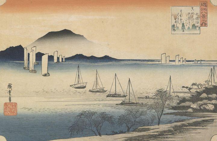 Hiroshige~Eight Views of Omi Sailboa - Treasury Classic