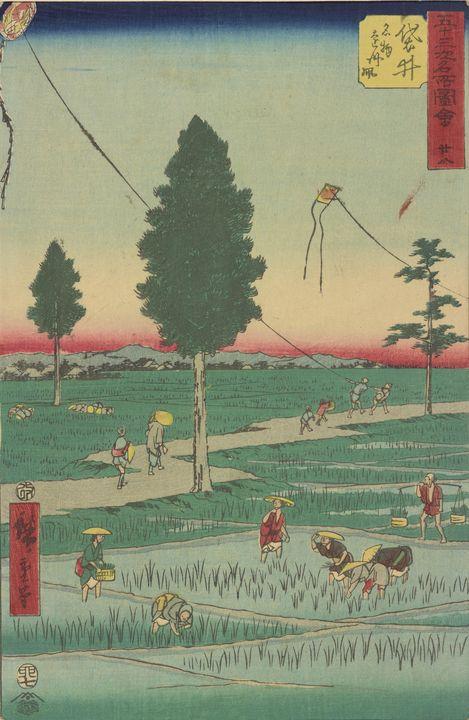 Hiroshige~Fukuroi station, from Fift - Treasury Classic