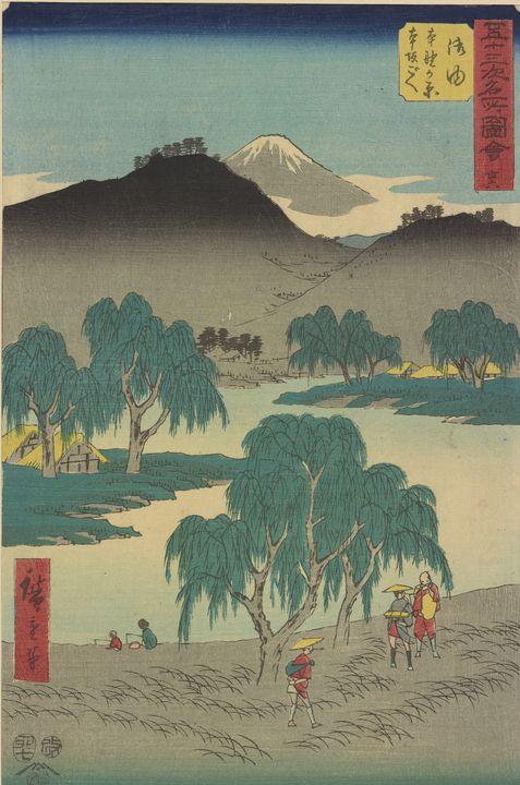 Hiroshige~Goyu station, from Fifty-t - Treasury Classic