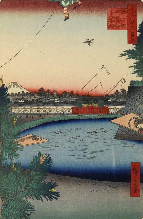 Hiroshige~Hibiya and Soto-Sakurada F - Treasury Classic