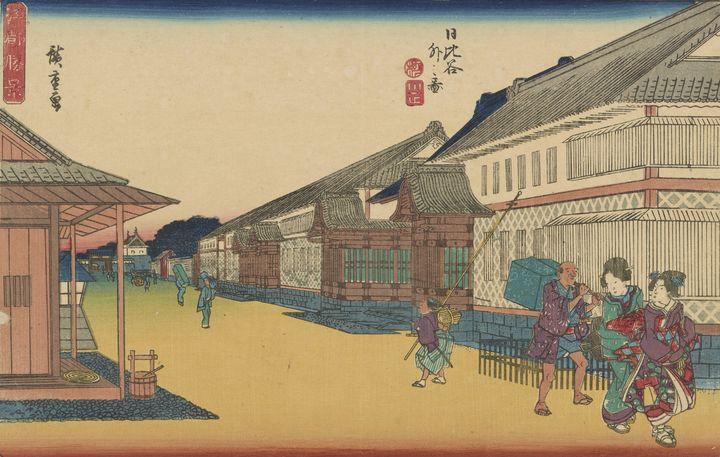 Hiroshige~Hibiya soto no zu, from th - Treasury Classic