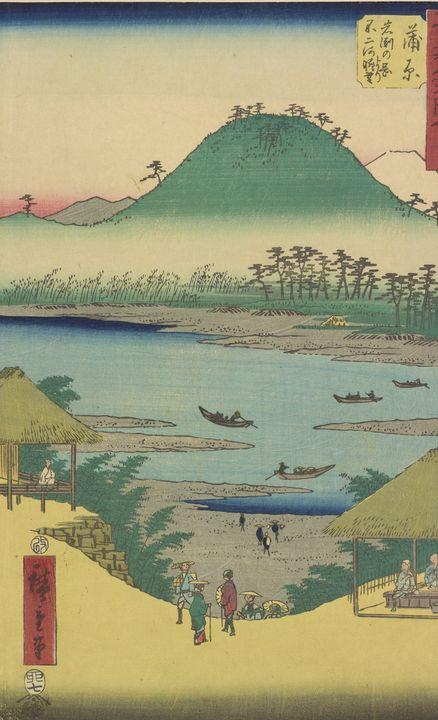 Hiroshige~Kanbara station, from Fift - Treasury Classic