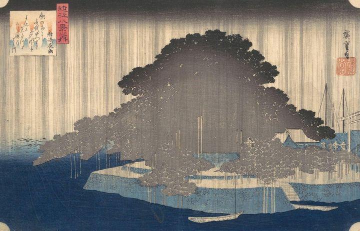 Hiroshige~Karasaki no Yau近江八景の内 唐崎夜雨 - Treasury Classic