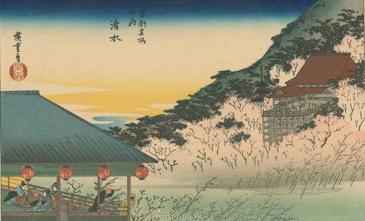 Hiroshige~Kiyomidzu (Cherry-Blossom - Treasury Classic