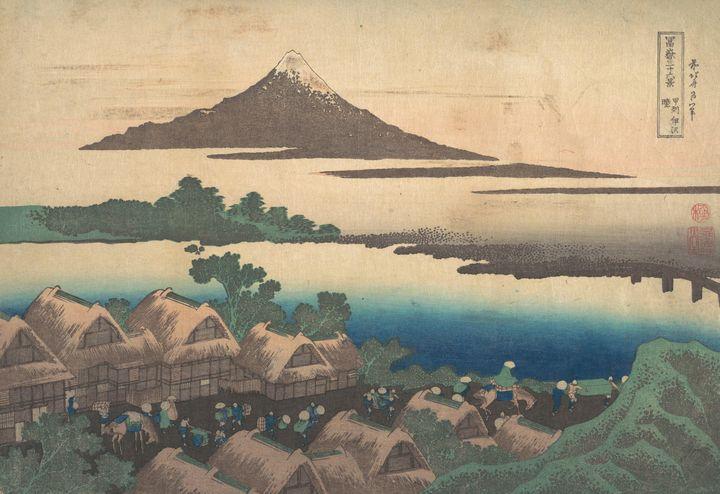 Hokusai~冨嶽三十六景 甲州伊沢暁Dawn at Isawa in - Treasury Classic