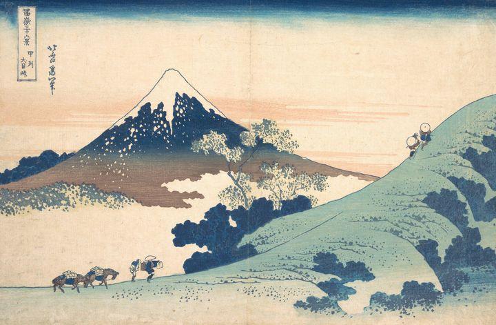 Hokusai~冨嶽三十六景 甲州犬目峠Fuji from Inume - Treasury Classic