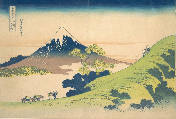 Hokusai~冨嶽三十六景 甲州犬目峠The Inume Pass i - Treasury Classic