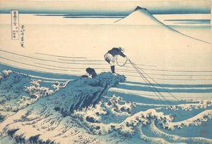 Hokusai~冨嶽三十六景 甲州石班沢Kajikazawa in Ka