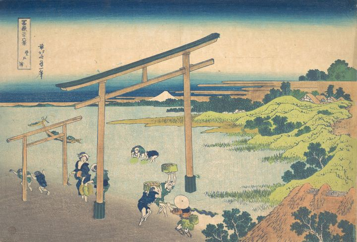 Hokusai~冨嶽三十六景 登戸浦Noboto Bay (Noboto - Treasury Classic