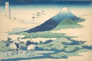 Hokusai~冨嶽三十六景 相州梅沢左Umezawa Manor in