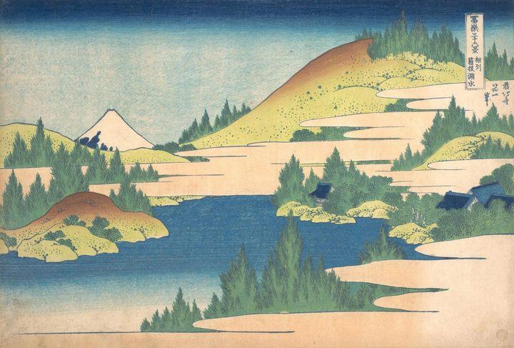 Hokusai~冨嶽三十六景 相州箱根湖水The Lake at Hak - Treasury Classic