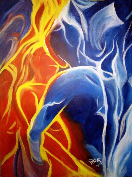 Fire And Ice Smita Srivastav Paintings Prints