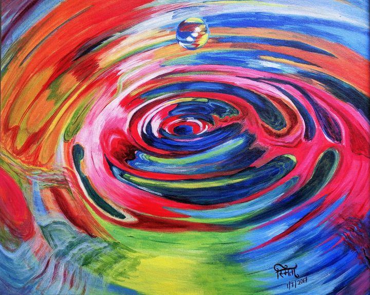 Colourful Ripples in Water - Smita Srivastav