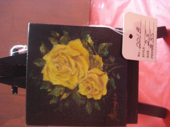 Dark Yellow Roses - Mallard Reach Art Studio