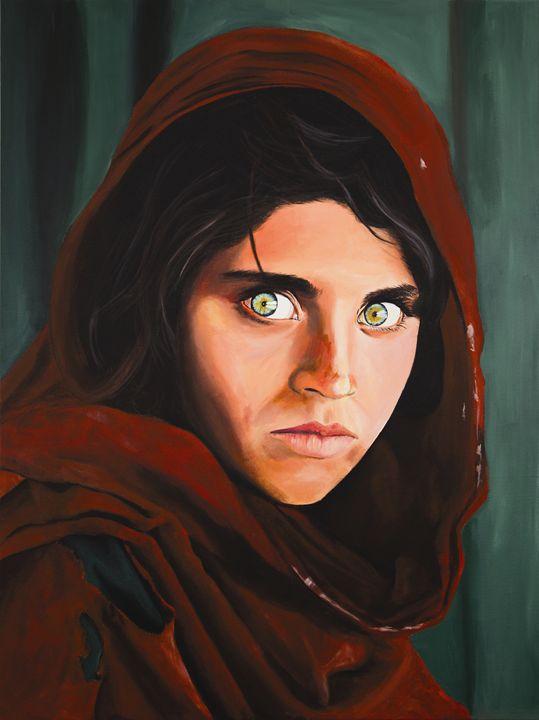 Afghan Girl by Moe Notsu - Moe Notsu