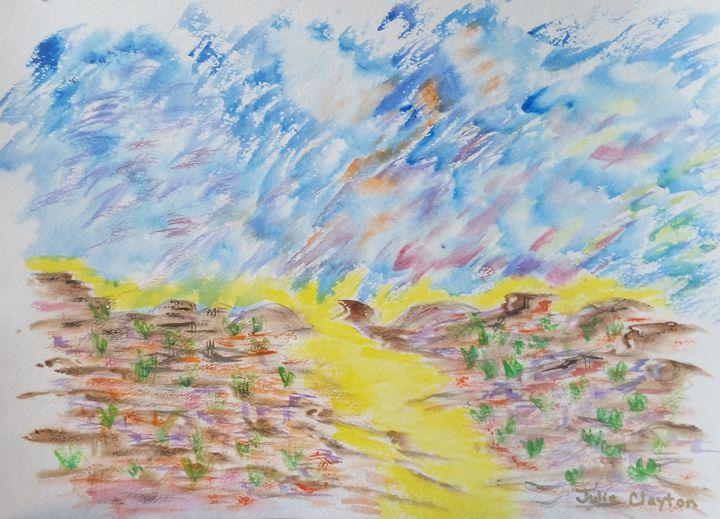 Desert Sun River - High Desert Reflection, by Julie Clayton
