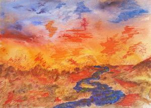 Cool Stream on the Blaze Desert
