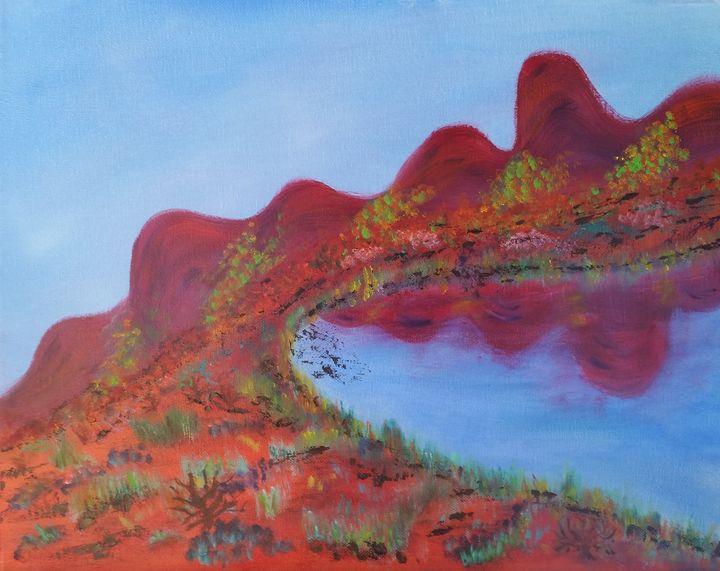 Dragon Back Mountain - High Desert Reflection, by Julie Clayton