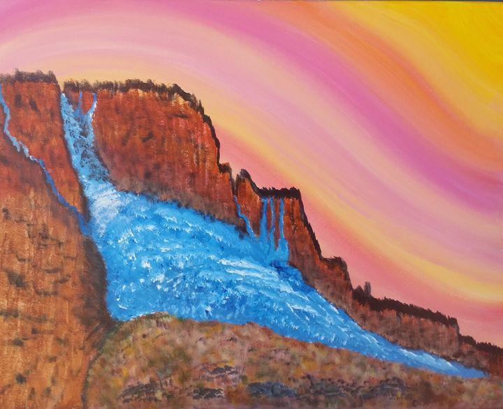 Lake Too-full - High Desert Reflection, by Julie Clayton
