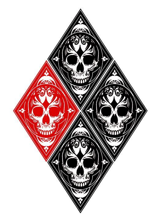 Harley Quinn Skull Diamond - PMarts
