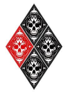Harley Quinn Skull Diamond