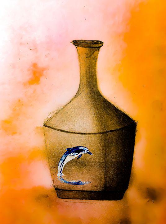 flask w dolphin - DAS