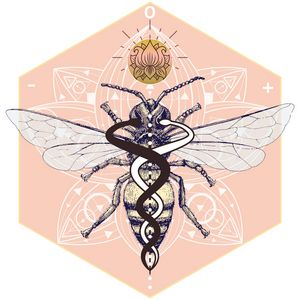 Sacred Bee Caduceus