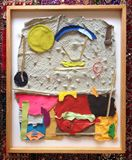 Collage from handmade paper