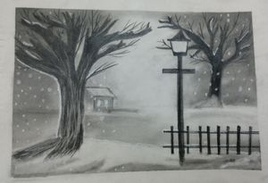 Snow fall painting