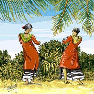 Two Women - Naushadarts