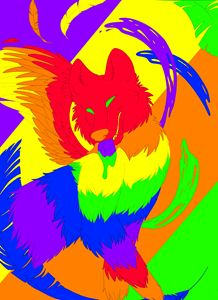 Psychadelic Winged Wolf
